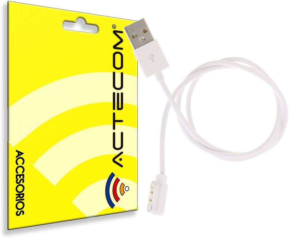 actecom Cable de Carga USB Reloj Inteligente Conector magnético 2 Pines