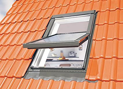 78 x 98 Optilight Dachfenster mit Eindeckrahmen flach /& ohne Dauerl/üftung