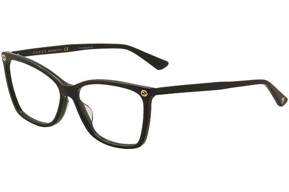 Amazon.com: Gucci - GG0025O-001 Optical Frame ACETATE: Clothing
