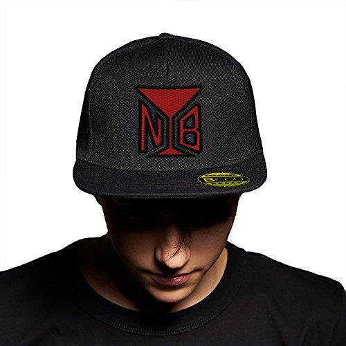 Naughty Boy Black Black Cap Original Gorra Snapback Unisex, Ajustable, con Visera Plana y Logotipo Urbano Bordado.