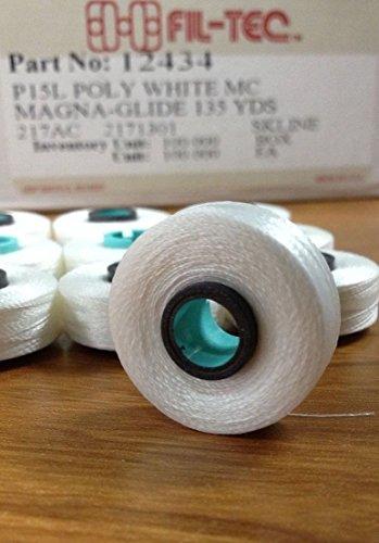 Fil-Tec Magna Glide White Bobbins L style (Thread Tec)