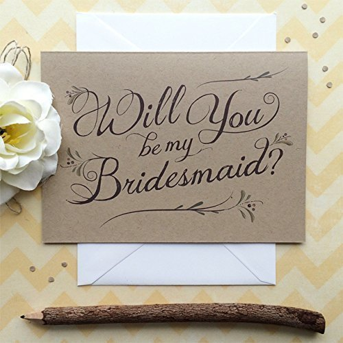 Hearts /& Krafts Will You Be My Bridesmaid Cards 3 Pack
