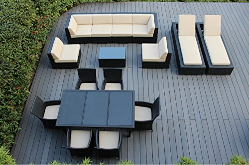 Genuine Ohana Outdoor Sectional Sofa, Dining and Chaise L...
