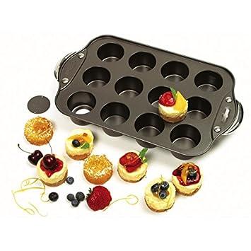 Norpro antiadherente 12 Mini Tarta de Queso/Muffin Quiche Cupcake Molde: Amazon.es: Hogar