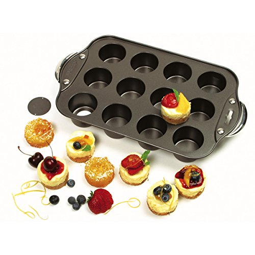 Norpro Nonstick Mini Cheesecake Pan with Handles, 12 count (Round Bread Mold)