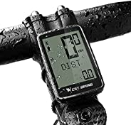 Bike Speedometer and Odometer Wireless Waterproof Bicycle Computer with Touch Sensor Switch, Big Digital LCD S