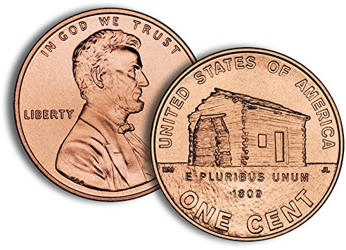 2009 P, D Lincoln Cent - 2 Roll Set - Log Cabin Design (2009 Lincoln Cent Roll)
