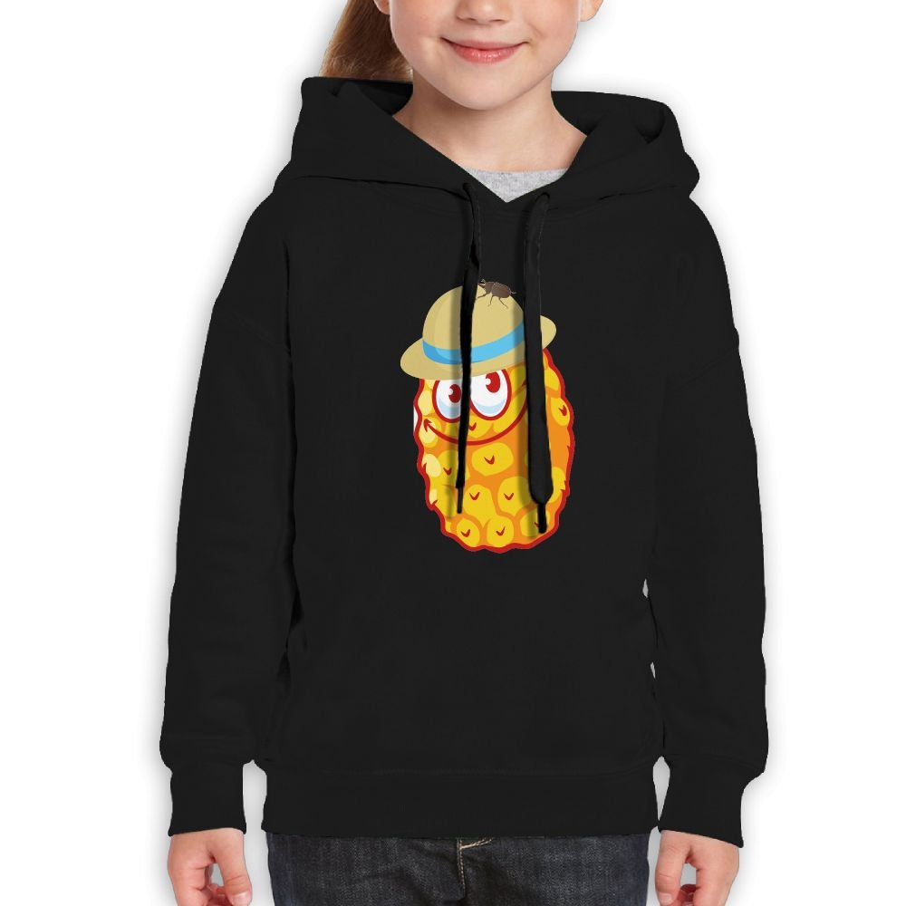 YUTaf Pineapple Hat Beetle Girls Boys Teens Cotton Long Sleeve Cute Sweatshirt Hoodie Unisex