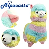 Alpacasso 14'' Rainbow Plush Alpaca, Cute Stuffed Animals Toys.