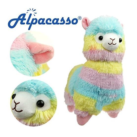 Alpacasso - Rainbow Plush Alpaca - 14 Inch 1