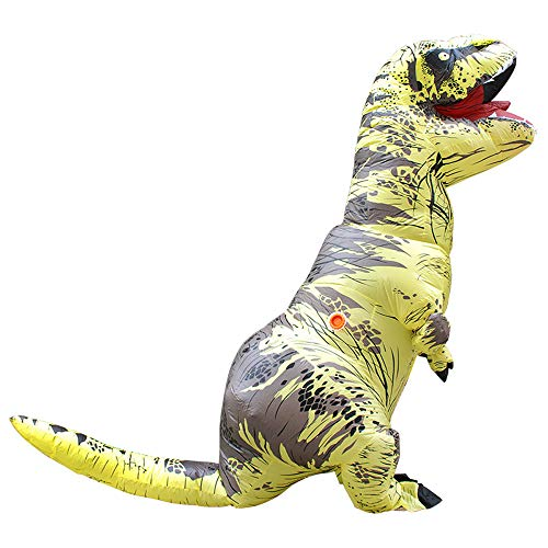 Dinosaur Costume Inflatable T-rex Mascot Cosplay Dress Adult
