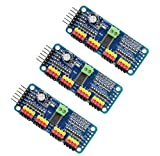 Onyehn 16 Channel PWM Servo Motor Driver PCA9685 IIC Module 12-Bit for Arduino Robot or Raspberry pi(3pcs of Pack)