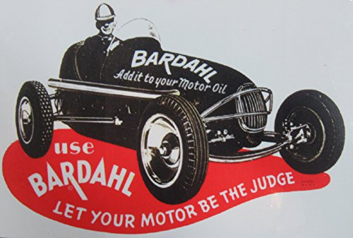 Kool Collectibles Vintage Style Bardahl Motor Oil Sticker Decal - Race Decal Drag