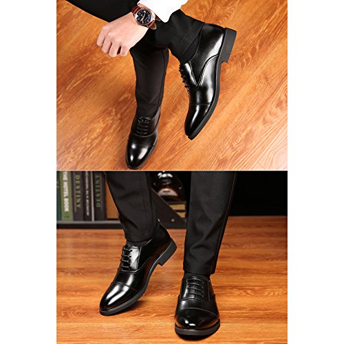 Black PU Scarpe Uomo Abiti Lavori Business Per Maschili Traspiranti Scarpe Estate Da Banchetto Casual Oxford CX1Rqpx6w