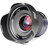 Meike 12mm f/2.8 Ultra Wide Angle Fixed Lens with Removeable Hood for Fujifilm Mirrorless Camera with APS-C
