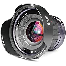 Meike 12mm F/2.8 Ultra Wide Angle Manual Foucs Prime Lens for Sony E Mount APS-C Mirrorless Cameras A7III A9 NEX 3 3N 5 NEX 5T NEX 5R NEX 6 7 A5000 A5100 A6000 A6100 A6300 A6500,etc