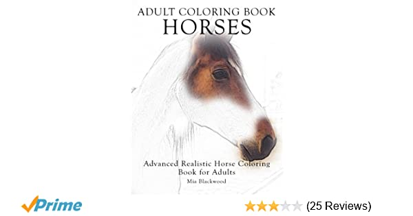 Amazon.com: Adult Coloring Book Horses: Advanced Realistic ...