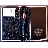 RETRO 51 Harley-Davidson Roadwriter Pink Flame Pocket Portfolio with Pen (HDRW-1633)