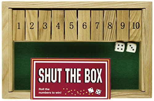 Square Root Games 0024 Shut The Box In Natural Finish Solid Hardwood ()