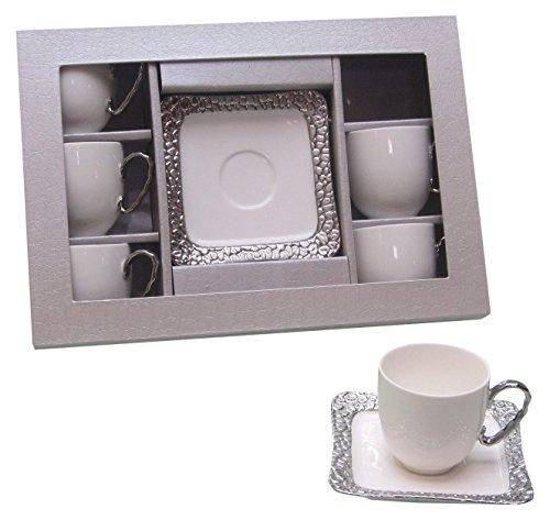 Imperial CB6-C Coffee Set 12 Pc, White/Silver
