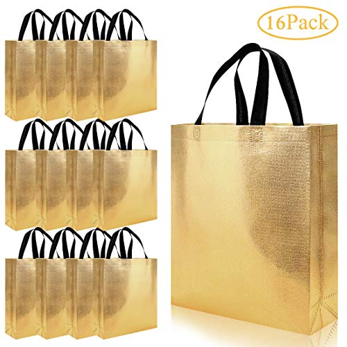 Top gold gift bags with handles small
