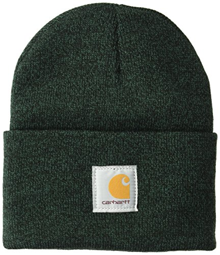 Carhartt Men's Acrylic Watch Hat A18, Hunter Green/Black One -