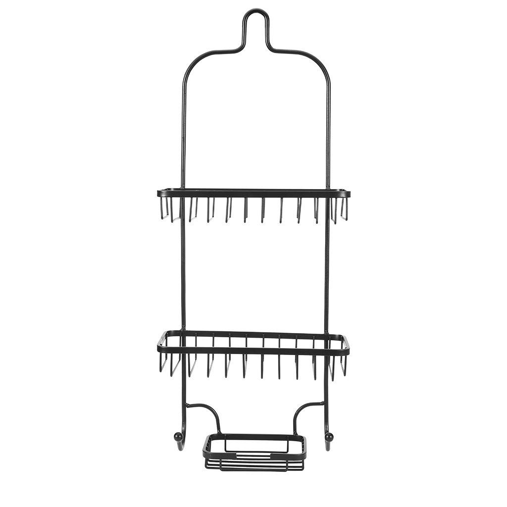 Rigel7 Bathroom Punch-Free Multi-Layer Finishing Wrought Iron Rack Wall Mounted Storage Shelves Towel Racks by Rigel7