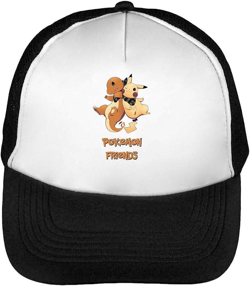 Pokemon Friendship Gorras Hombre Snapback Beisbol Negro Blanco One ...