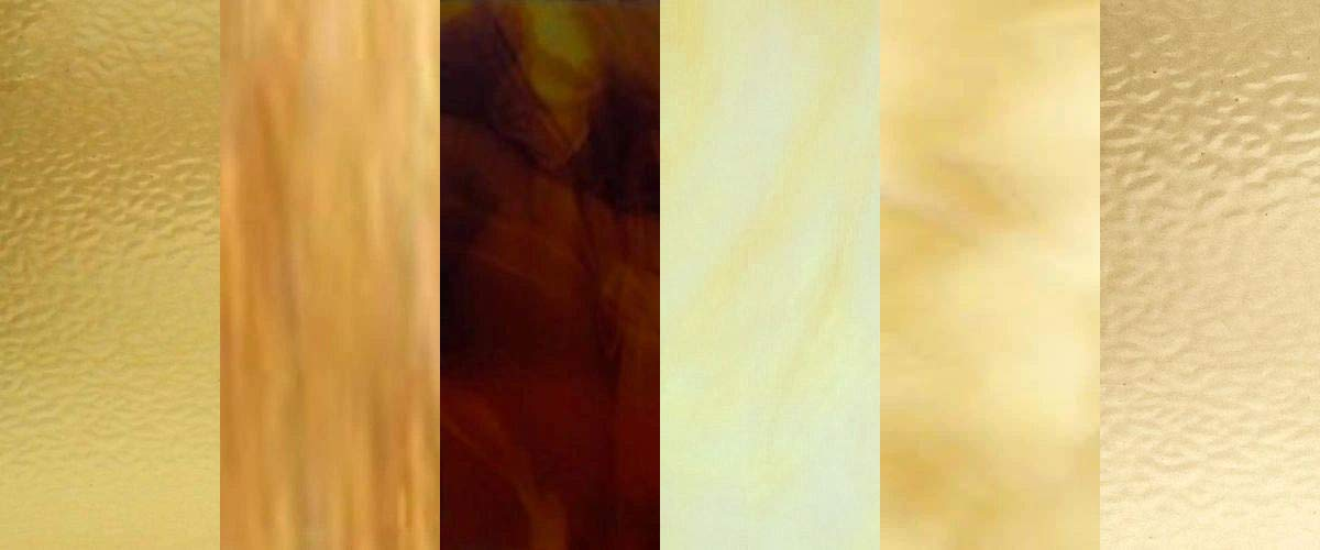 8x10-6 Sheets : Amber Variety Stained Glass Sheets for Mosaic and Stained Glass
