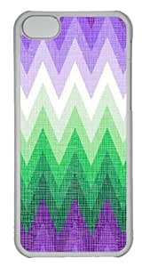 Customized Case patterns abstract colors parallax 1 1 3 PC Transparent for Apple iPhone 5C