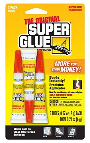 The Original Super Glue - 3 QTY - .07oz Tubes ()