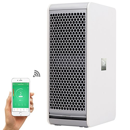 Nectar WIFI Air Purifier Washable Electrostatic Filter - Kills Airborne Bacteria and Pet Allergens, Large - Nectar Room