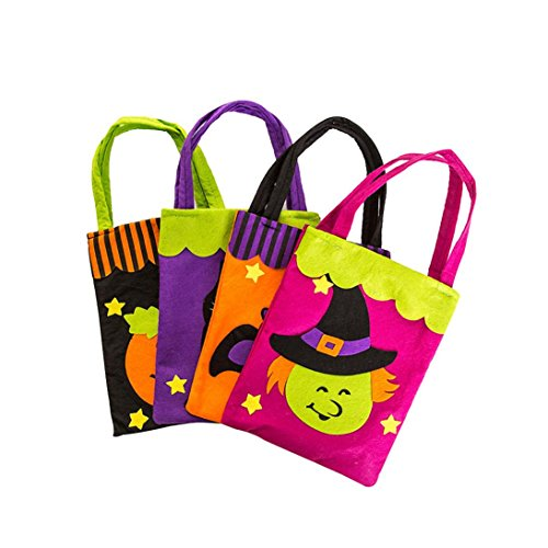 Misaky Halloween Cute Witches Candy Bag Children Party Storage Bag (Apple Halloween Bucket)