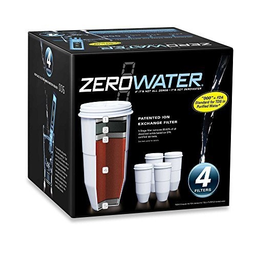 ZeroWater 4-Pack Replacement Filter Cartridges ZR-004 ()