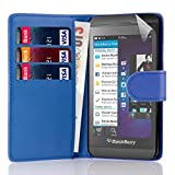 32nd Book wallet PU leather case cover for Blackberry Z10 - Deep Blue