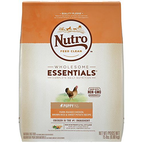 Nutro WHOLESOME ESSENTIALS Puppy Chicken, Whole Brown Rice & Sweet Potato Recipe 15 lbs Healthy Growth Puppy Food