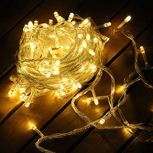 MYGOTO 200 Leds String Lights Waterproof Fairy Lights 30m (98 feet) 8 Modes with Memory 30V UL Certified Power Supply for Home, Garden, Wedding, Party, Christmas Decoration Indoor Outdoor (Warm White) from MYGOTO