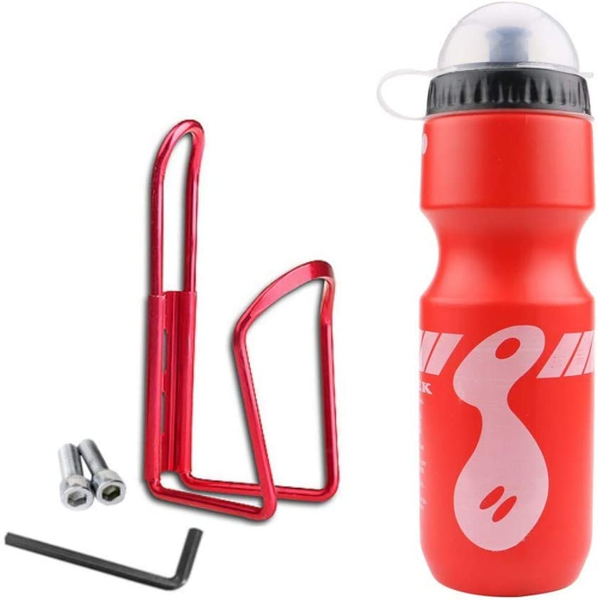 BPA Free Bicycle Squeeze Bottle and Durable Plastic Holder Cage for Outdoor Cycling Bike Bottle Holder with Water Bottle XIGUI 22 oz Bike Water Bottle Cages