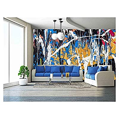 Dripping Paint Graffiti Wall Close - Removable Wall Mural | Self-Adhesive Large Wallpaper - 100x144 inches