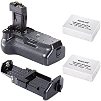 Neewer Pro Battery Grip (Replacement for BG-E8) for Canon EOS 550D/600D/650D/700D Rebel T2i/T3i/T4i/T5i + 2 7.4V 1140mAh LP-E8 Replacement Battery