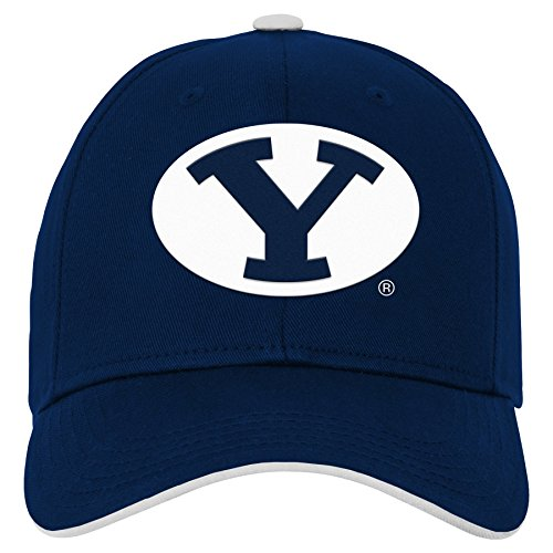 cheap for discount 99ce5 544ff NCAA by Outerstuff NCAA Byu Cougars Kids   Youth Boys Basic Structured  Adjustable Hat, Dark