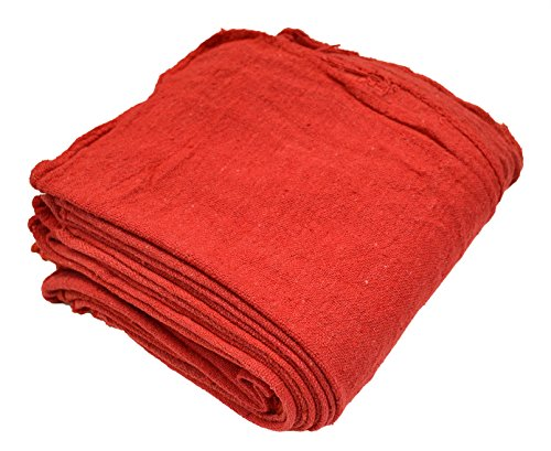 Pro-Clean Basics A21817 Reusable Shop Towels, Red, 12'' x 14'', Pack of 300 by Pro-Clean Basics (Image #1)
