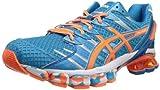 ASICS Men's Gel-Kinsei 4 Running Shoe,Island Blue/White/Flash Orange,11 M US