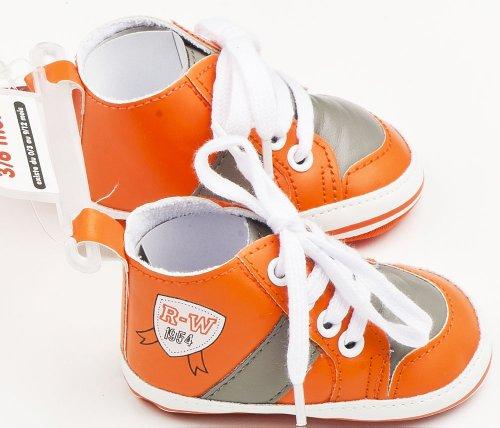 Sneaker Baby mit Schnürung Orange/Grau 3/6MOIS (Gr. 15/17)