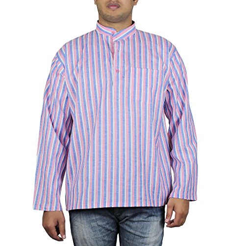 [Indian Costume Men Shirt kurta Relax Fit Airy Comfortable Gifts For Him 42 Inches] (Ethnic Costume For Men)