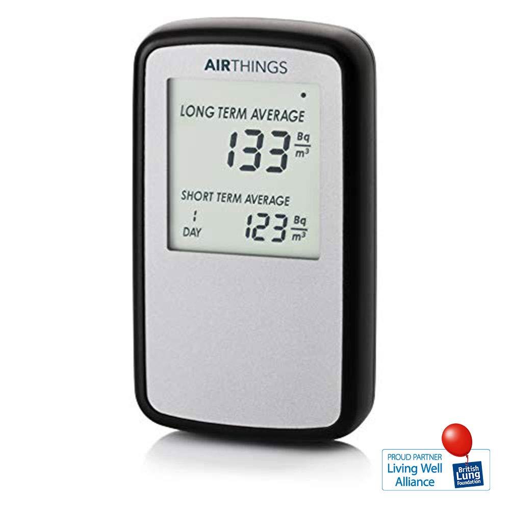 Corentium Home par AirThings, Detecteur de gas radon, version internationale en Bq/m 222
