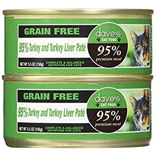 Dave'S 95% Turkey & Turkey Liver Pate Formula For Cats, 5.5 Oz Can (Case Of 24 )