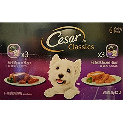 Cesar Classics Six Can Variety Pack - Grilled Chicken (3) & Filet Mignon (3)