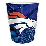 """Denver Broncos NFL 10"""" Bath Waste Basket (Scatter Series)"""