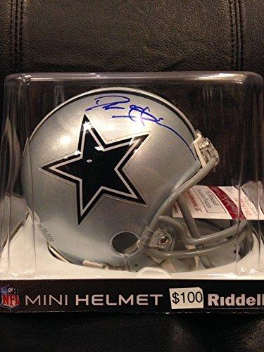 Deion Sanders Helmet - Deion Sanders Signed Autograph Cowboys Mini Helmet JSA Certified New